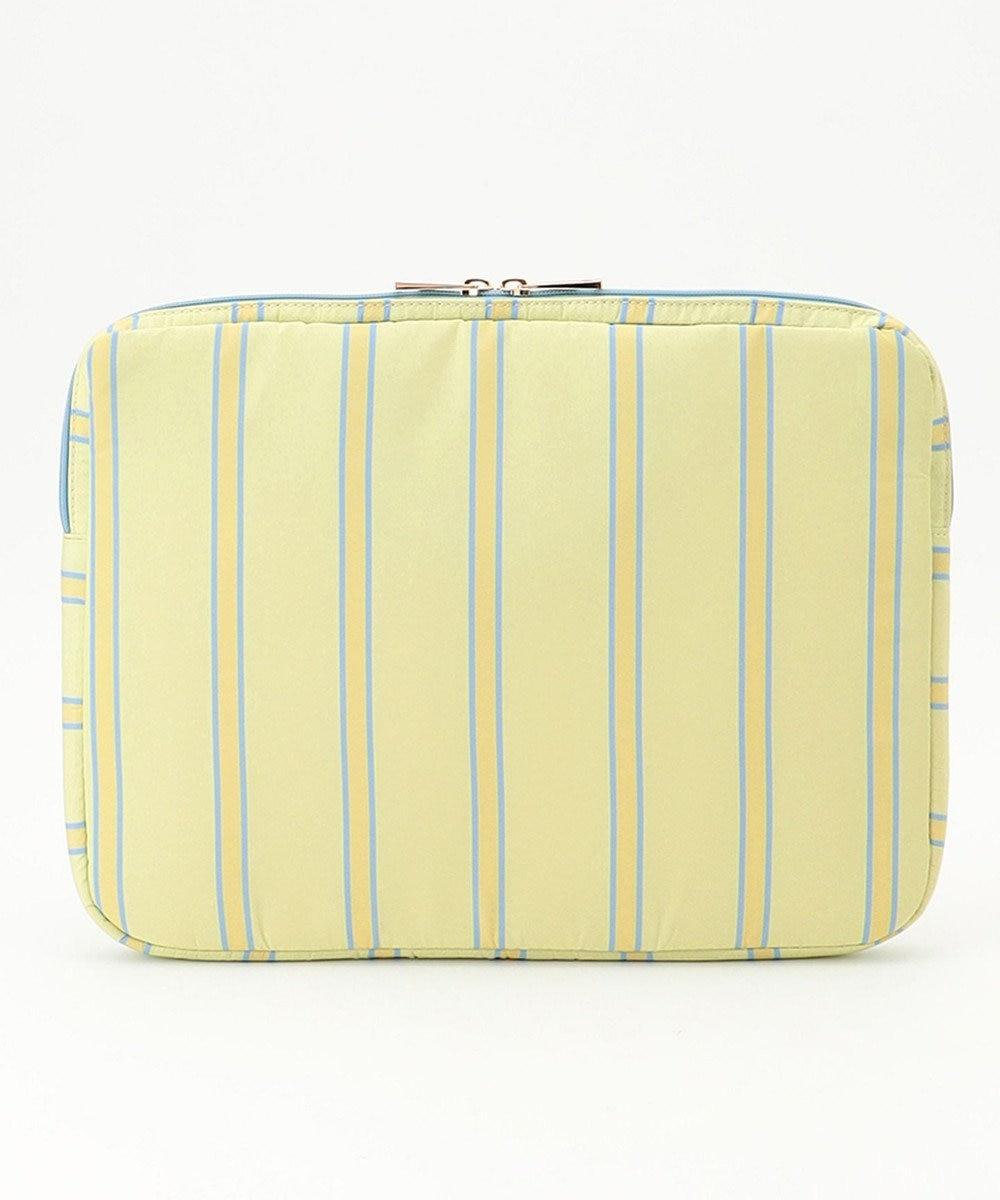 any SiS 【持ち手付き】ボタニカルストライプ PC・タブレット用 バッグ イエロー
