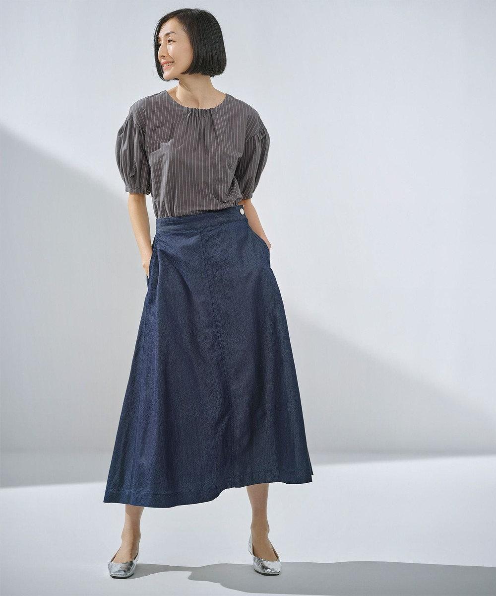 自由区 【WEB限定カラー有】ライトオンスデニム スカート ネイビー系