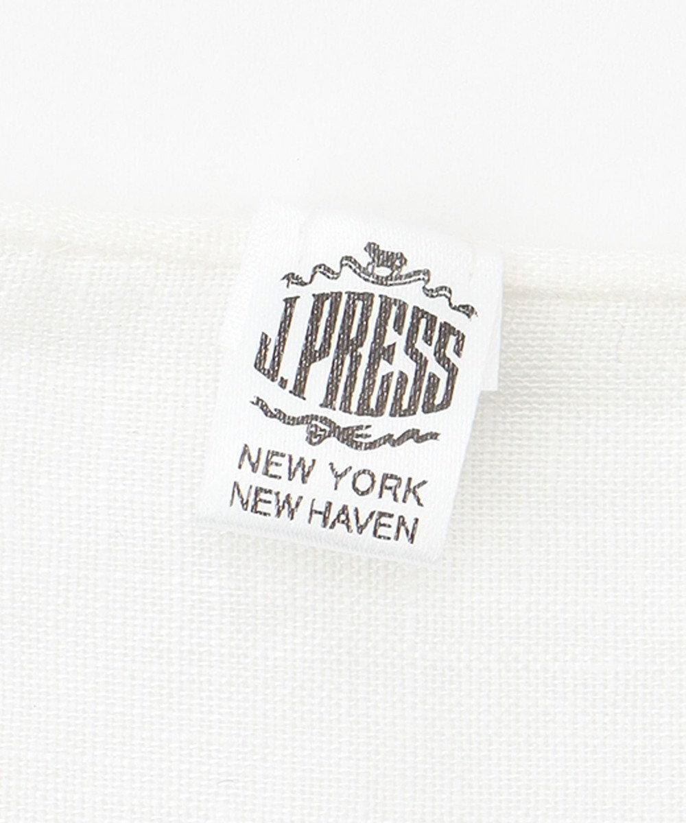 J.PRESS MEN リネン ポケットチーフ ホワイト系