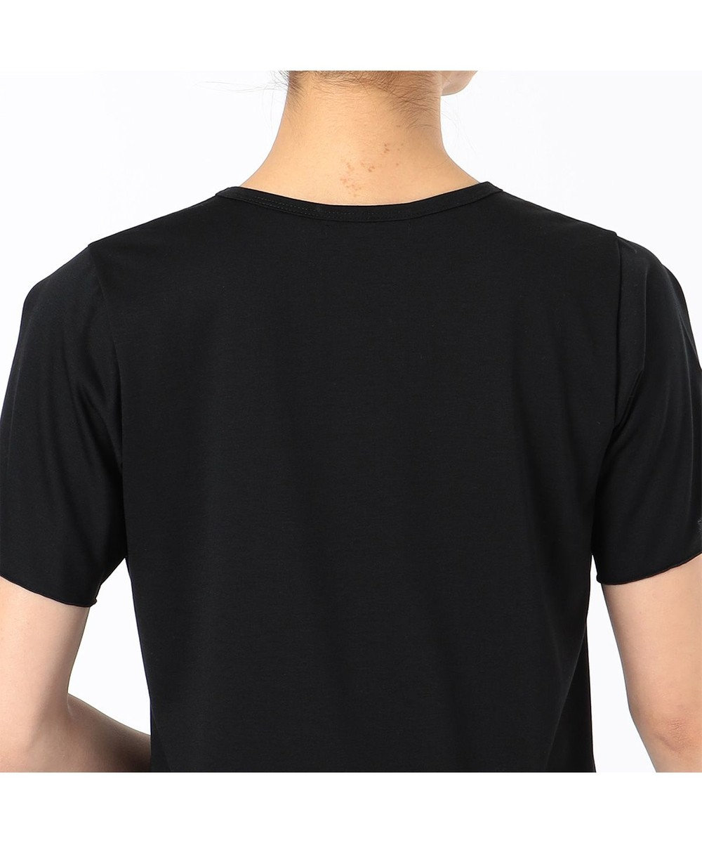 Chacott レースコンビワンピースTシャツ ブラック