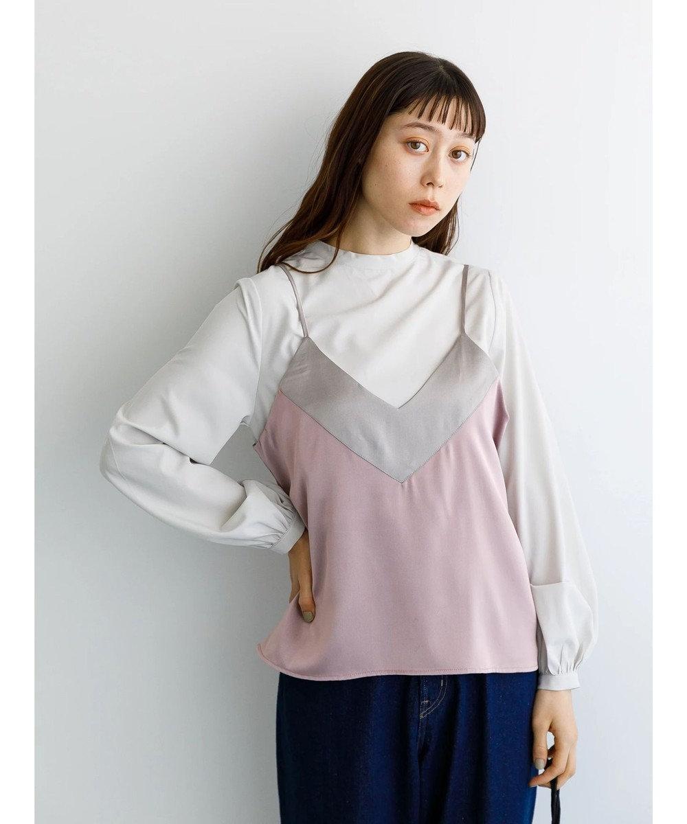 koe SETサテンキャミソール&シャツ Pink