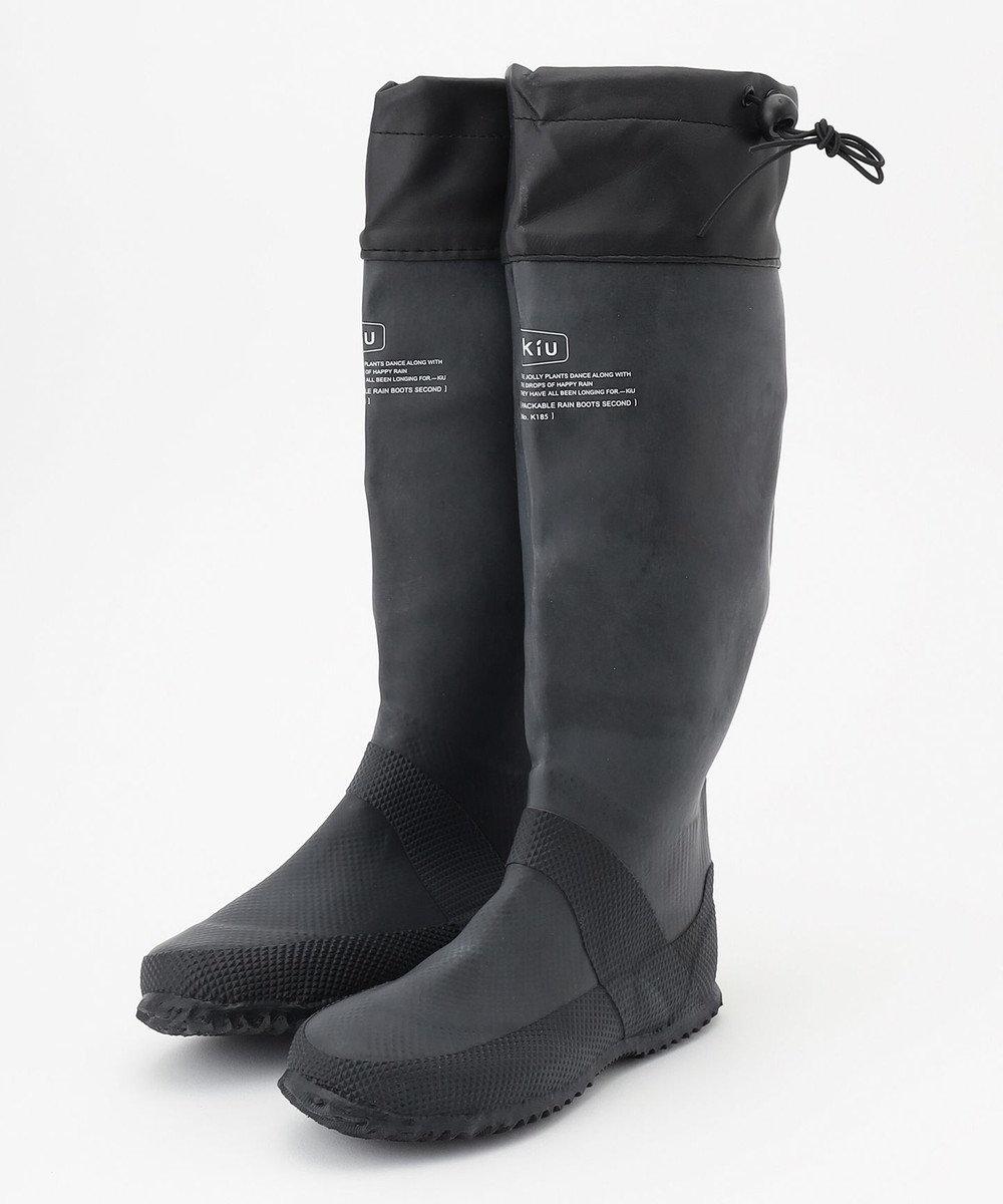ONWARD CROSSET STORE 【KiU】PACKABLE RAIN BOOTS ブラック