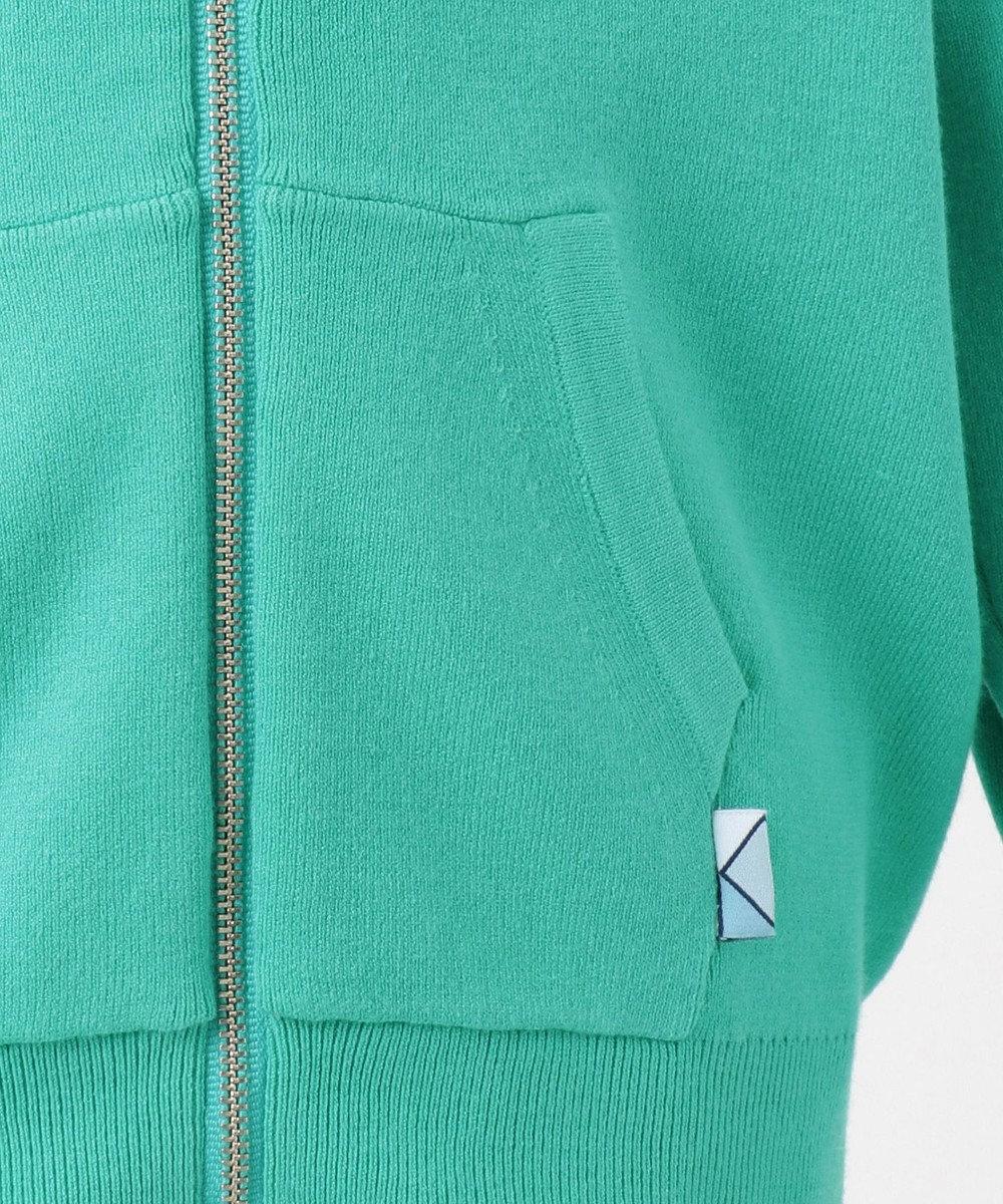 組曲 KIDS 【KMKK/100-130cm】VIS/PE ニットアップ ジップアップパーカー(番号KF62) スモーキーグリーン系