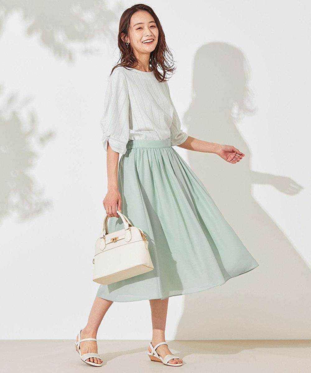 any SiS 【洗える】タックギャザーエアリー スカート ミント