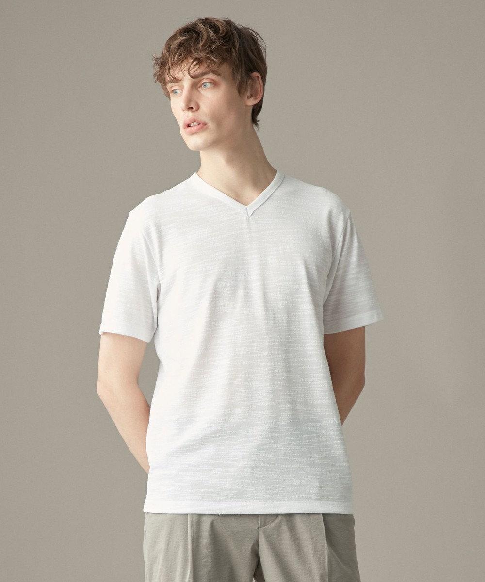 JOSEPH HOMME スラブリングジャージー カットソー/Tシャツ ホワイト系