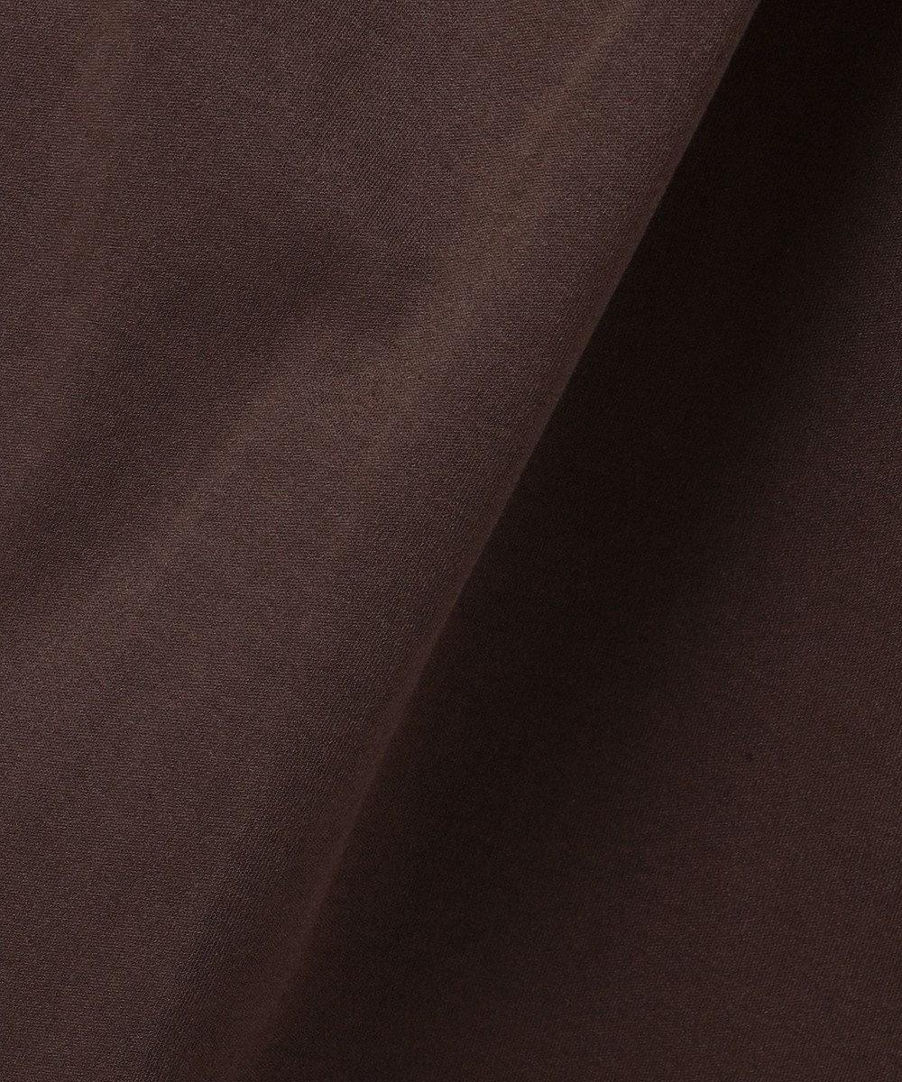 J.PRESS LADIES S 【UVケア・消臭効果・接触冷感】コンパクトコットンスムース バンドカラー ワンピース ダークブラウン系