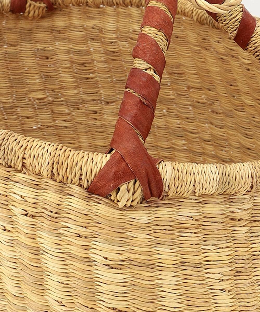 ONWARD CROSSET STORE 【アフリカンスクエア】ブルキナバスケットL ベージュ系