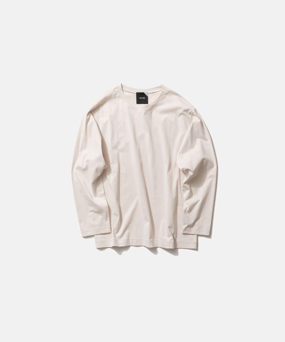 ATON NUBACK COTTON | ロングスリーブTシャツ - UNISEX OFF WHITE
