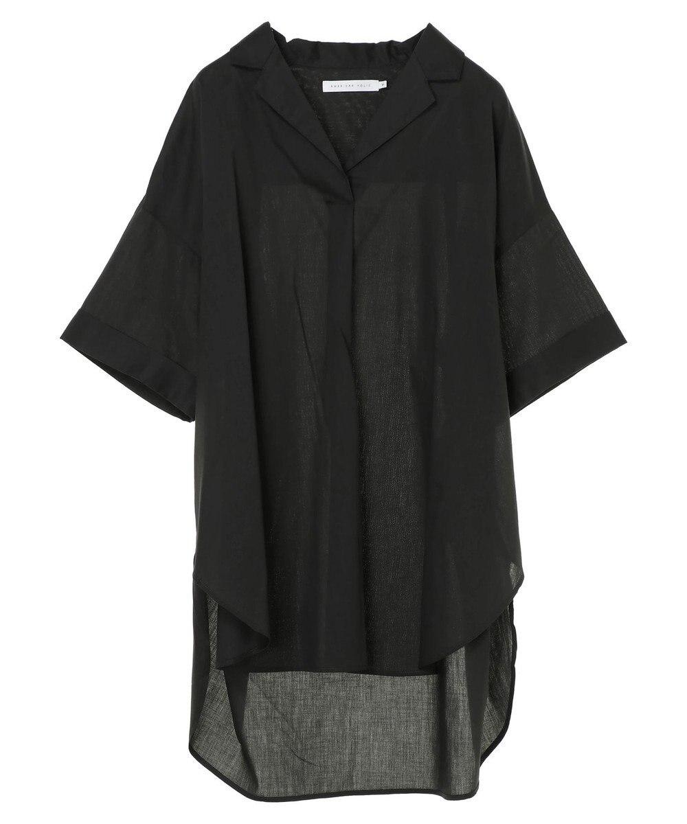 AMERICAN HOLIC スキッパー開襟BIGシャツチュニック Charcoal Gray