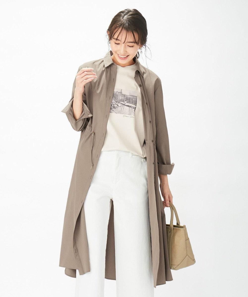 J.PRESS LADIES 【洗える】ソフトタイプライター ワンピース モカカーキ