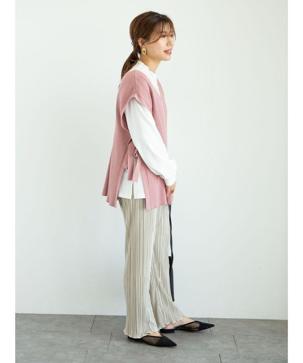 Green Parks ・SUGAR SPOON SET2点ロンT×リブベスト Pink