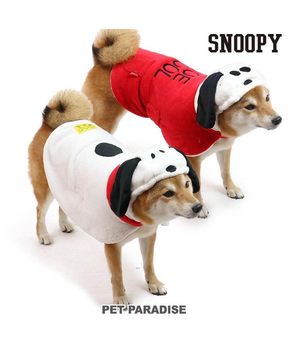 PET PARADISE 犬 服 秋服 スヌーピー ポンチョ 〔中型犬〕 リバーシブル ペットウエア ペットウェア ドッグウエア ドッグウェア 赤