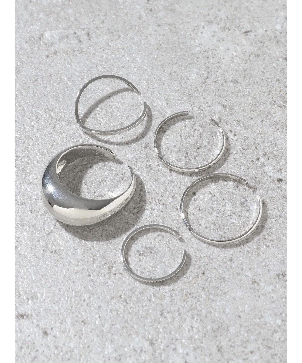 AMERICAN HOLIC シンプルメタルSETリング Silver