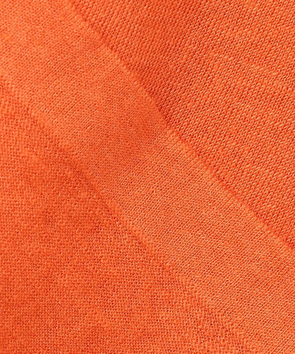23区 【洗える】CARIAGGI ギャザー袖 ニット オレンジ系