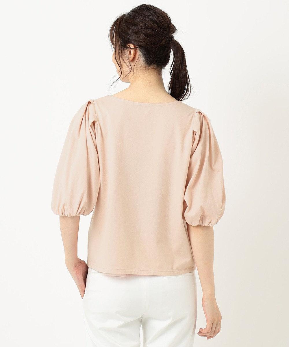 組曲 S 【洗える】コットンテンジクパフスリーブ カットソー ピンク系