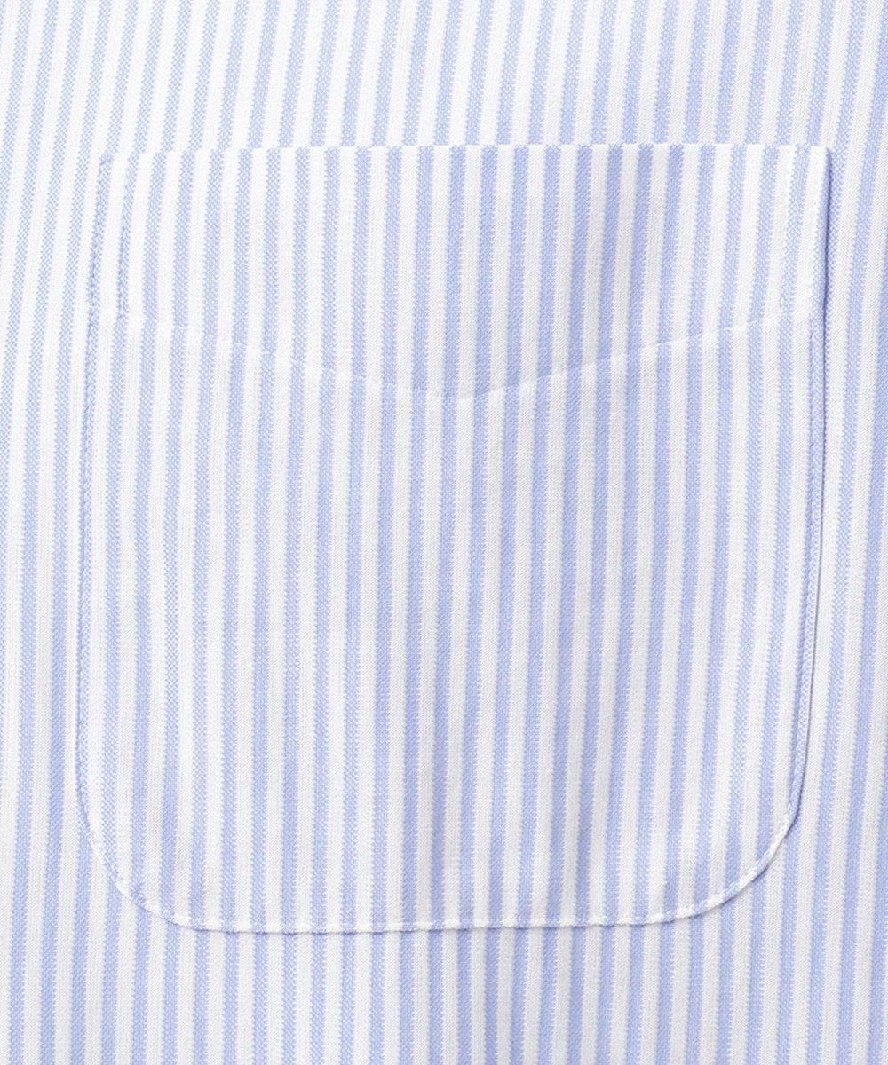 J.PRESS MEN 【J.PRESS PLUS】シャンブレー ジャージ キャンディーストライプ ドレスシャツ サックスブルー系1