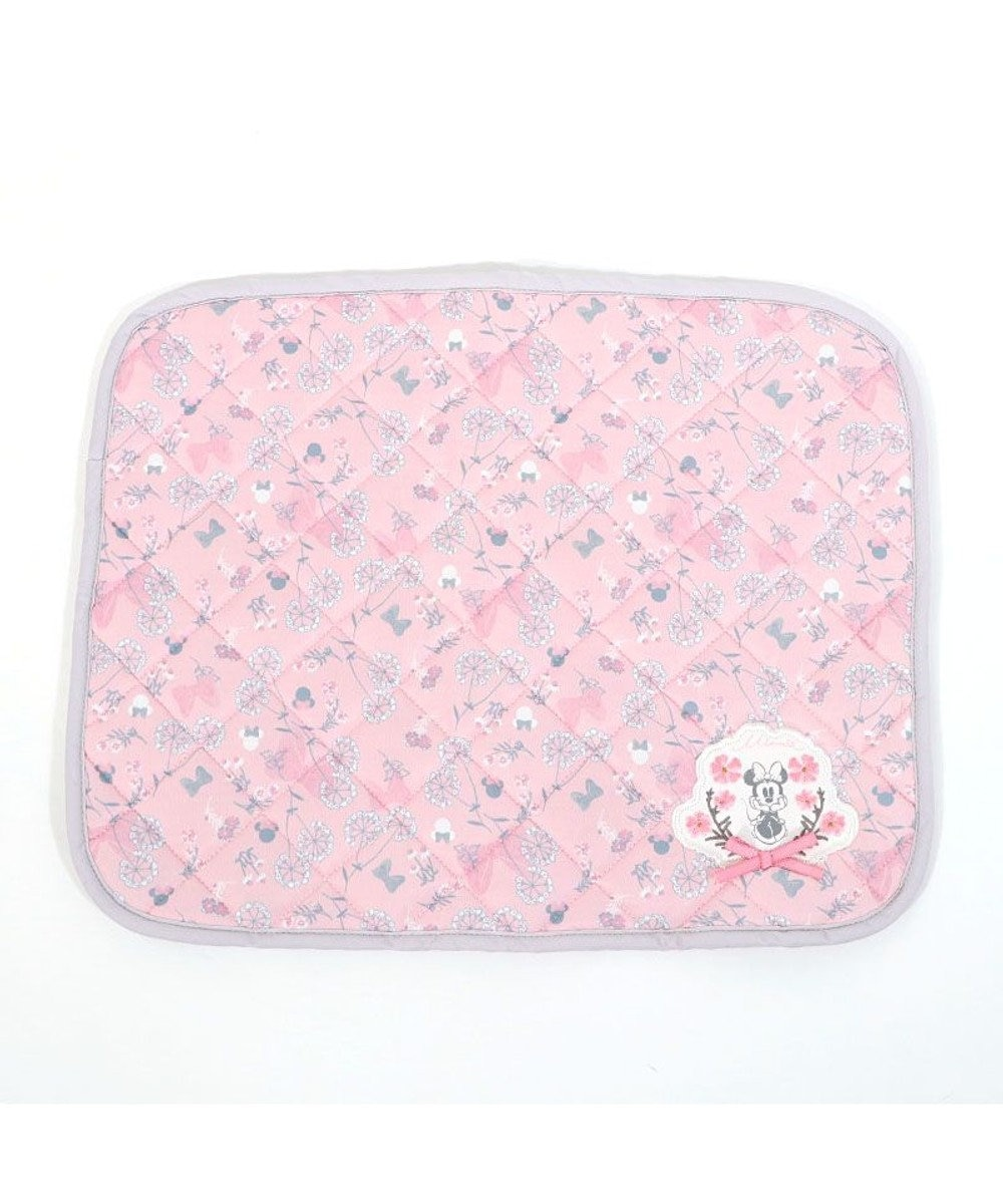 PET PARADISE ペットパラダイス ディズニー ミニーマウス 接触冷感 ボタニカル柄 クールマット(48cm×40cm) ピンク(淡)