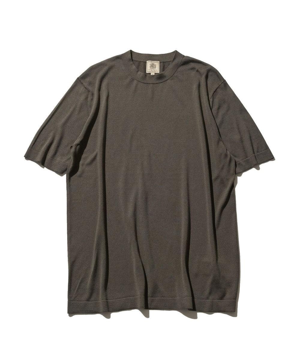 J.PRESS MEN ニット シルクTシャツ グレー系