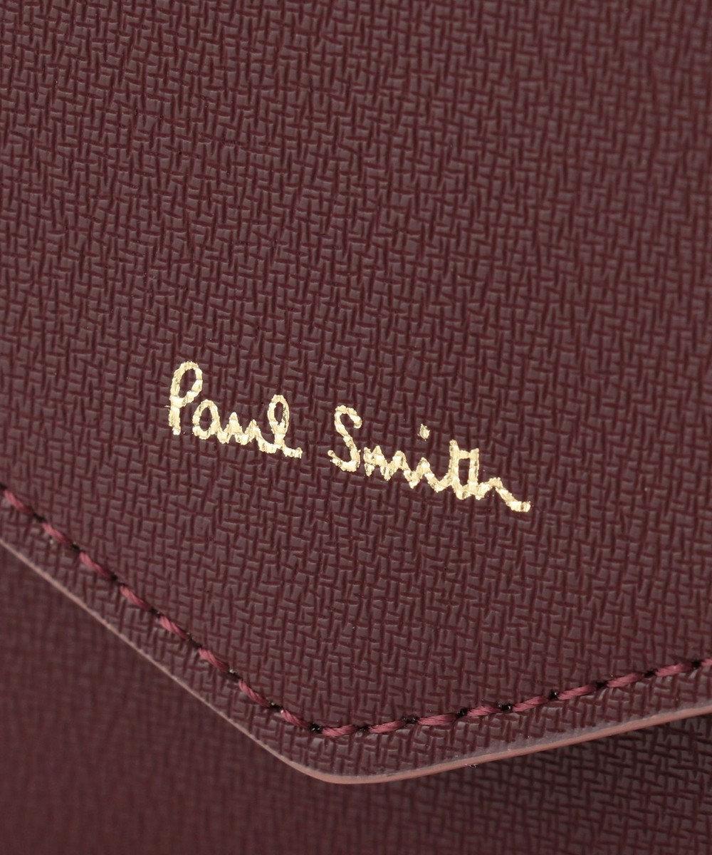 Paul Smith ハイライトステッチ がま口財布 ワイン系