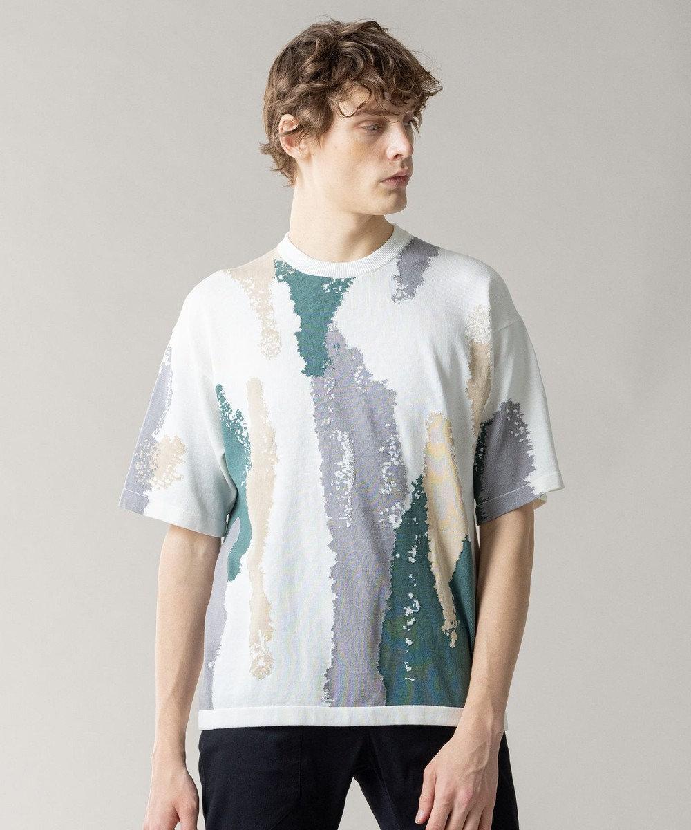 JOSEPH HOMME クールツイストインターシャ ニットTシャツ ホワイト系5