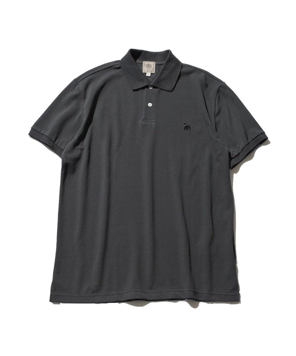 J.PRESS MEN 【大人気】アメリカンコットン 鹿の子 バックブル ポロシャツ グレー系