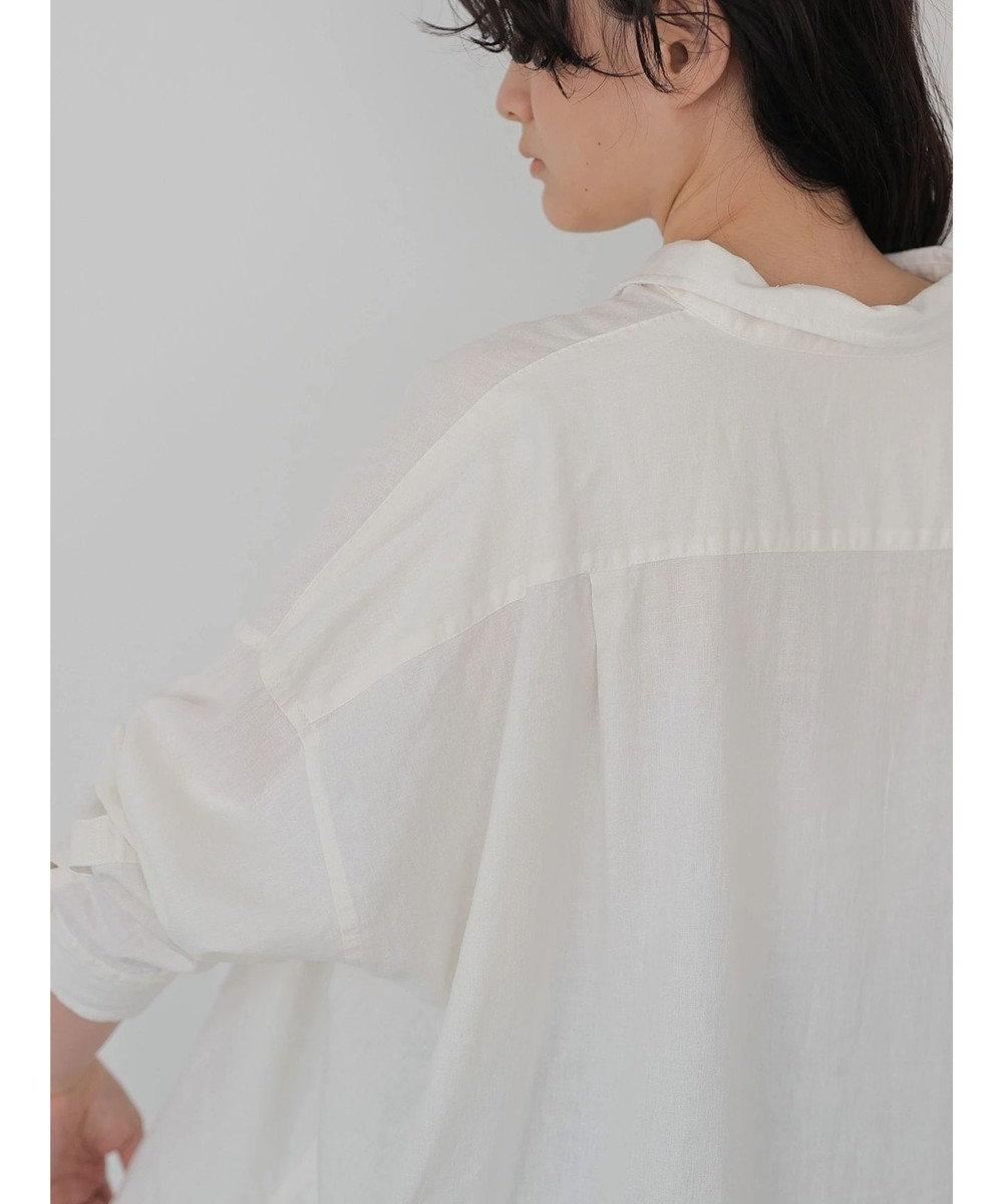 AMERICAN HOLIC リネンブレンドオーバーシャツ Off White
