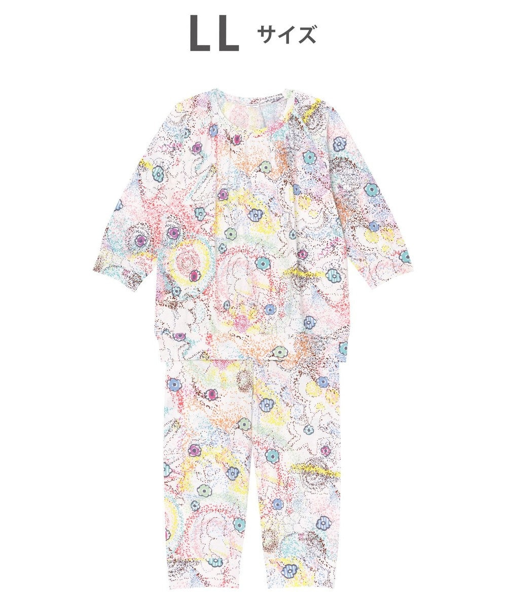 tsumori chisato SLEEP パジャマ 8分袖8分パンツ 太陽、地球、星 /ワコール UDO257 アイボリー