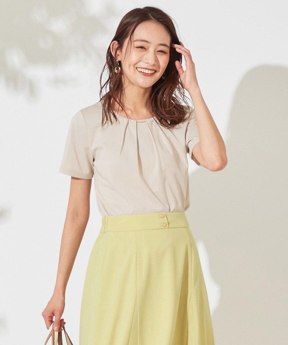any SiS 【UVケア】コンフォートモダールベーシック クルーネック Tシャツ グレージュ