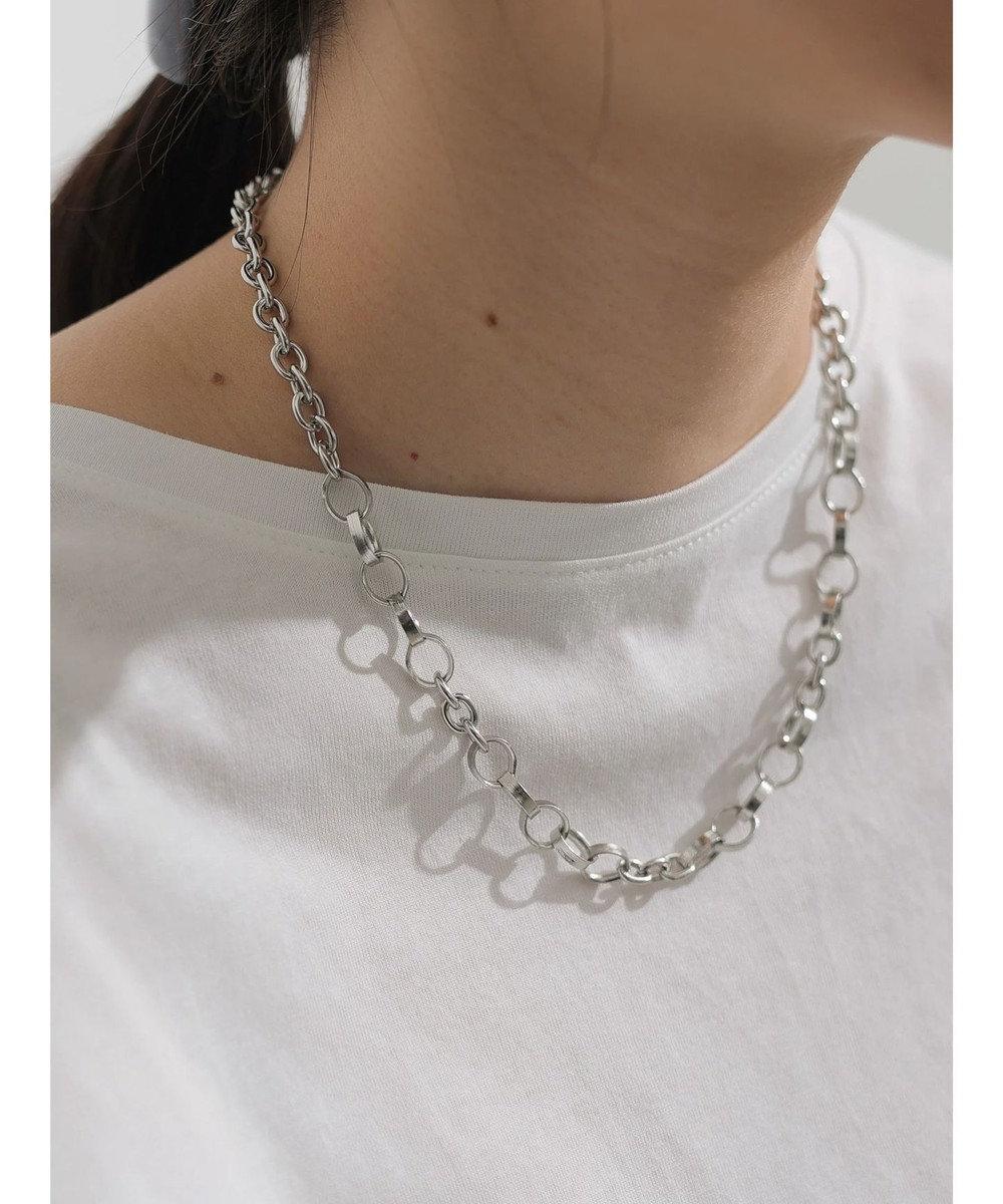 AMERICAN HOLIC メタルチェーンショートネックレス Silver