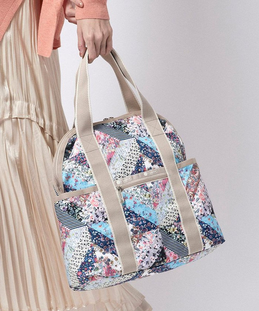 LeSportsac DOUBLE TROUBLE BACKPACK/メモリー フローラル キルト メモリー フローラル キルト