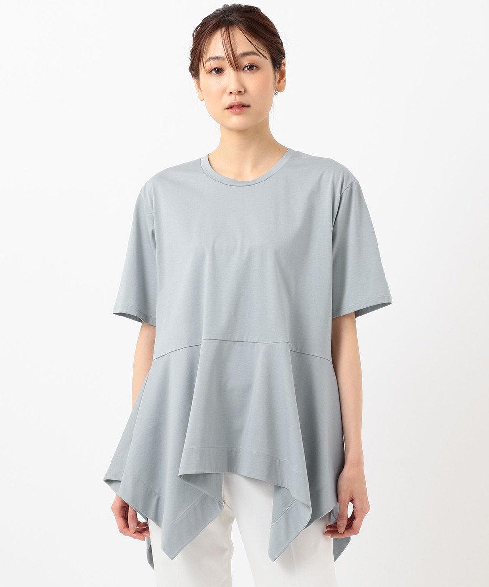 JOSEPH 【洗える】プレーティングジャージ Tシャツ ダルブルー系