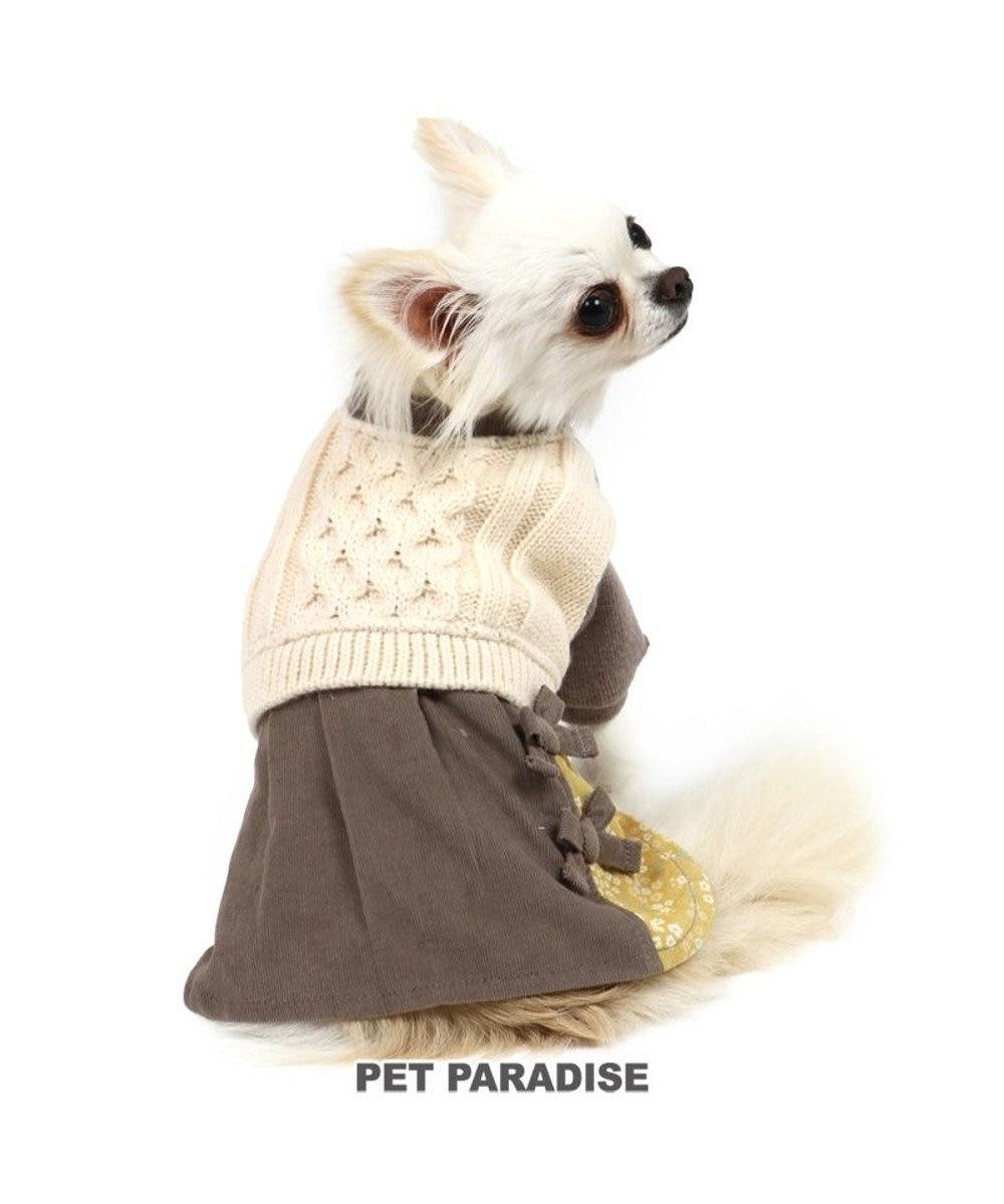 PET PARADISE 犬 服 ニット ワンピース 〔小型犬〕 灰×白   犬服 犬の服 犬 服 ペットウエア ペットウェア ドッグウエア ドッグウェア ベビー 超小型犬 小型犬 グレー