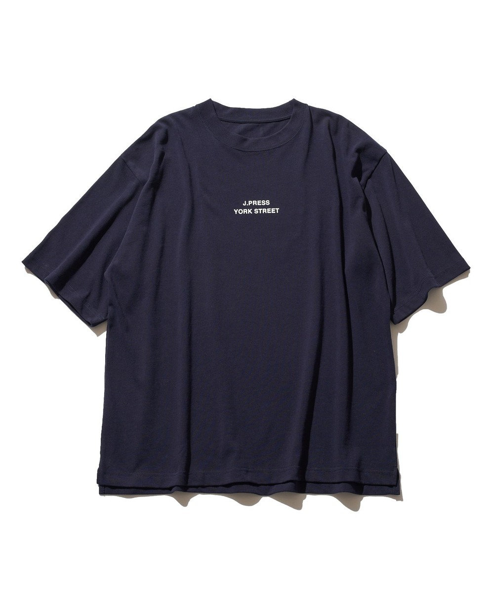 J.PRESS YORK STREET 【UNISEX】ロゴプリント Tシャツ ネイビー系