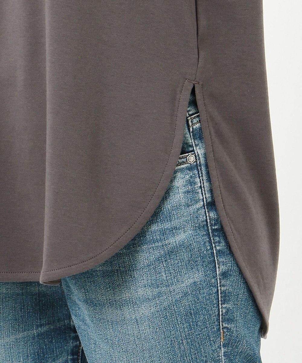 any FAM L USAコットン裾テール  ロングTシャツ グレー系