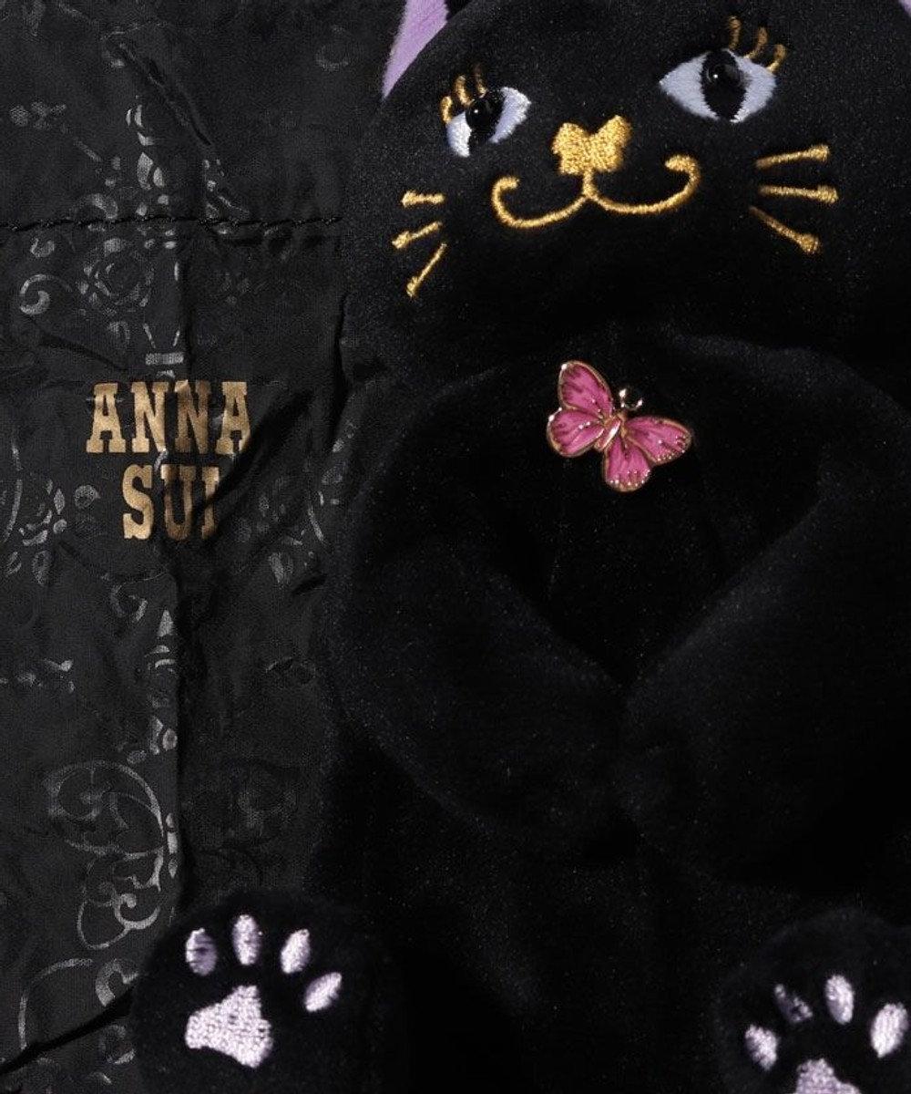 ANNA SUI プレイフル ぬいぐるみポーチ付きエコバッグ ブラック