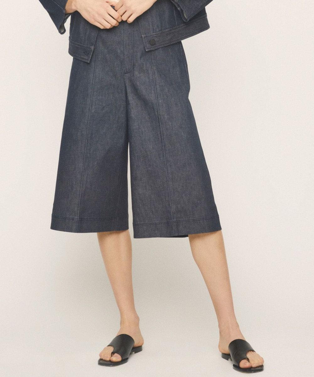 JOSEPH STUDIO 【洗える】コットンデニム ハーフパンツ ダルブルー系