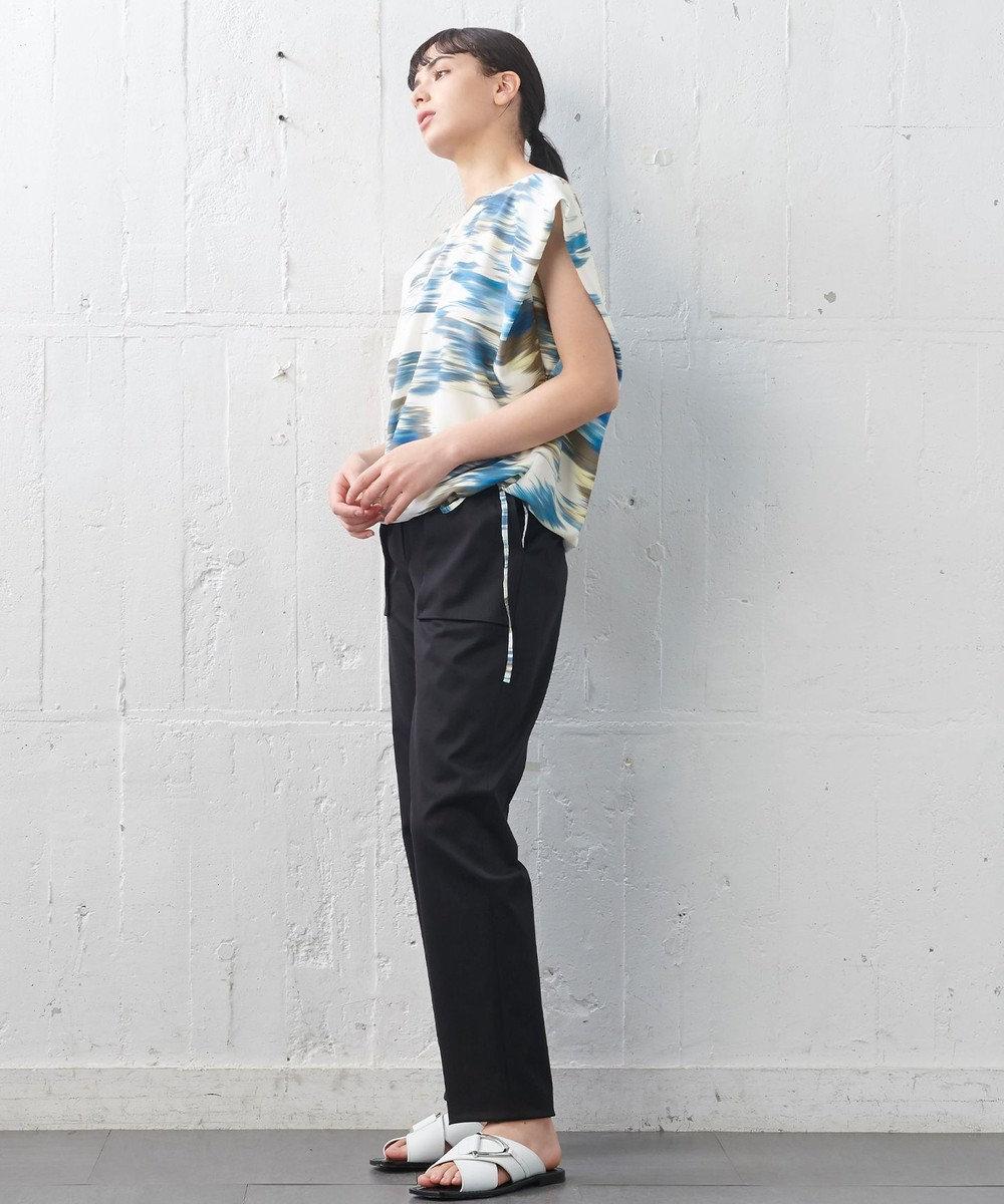 JOSEPH 【JOSEPH STUDIO・洗える】ボディシェルキュート コットンストレッチ パンツ ブラック系