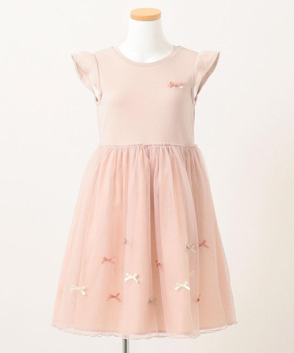any FAM KIDS チュールリボンドッキングワンピース ピンク系