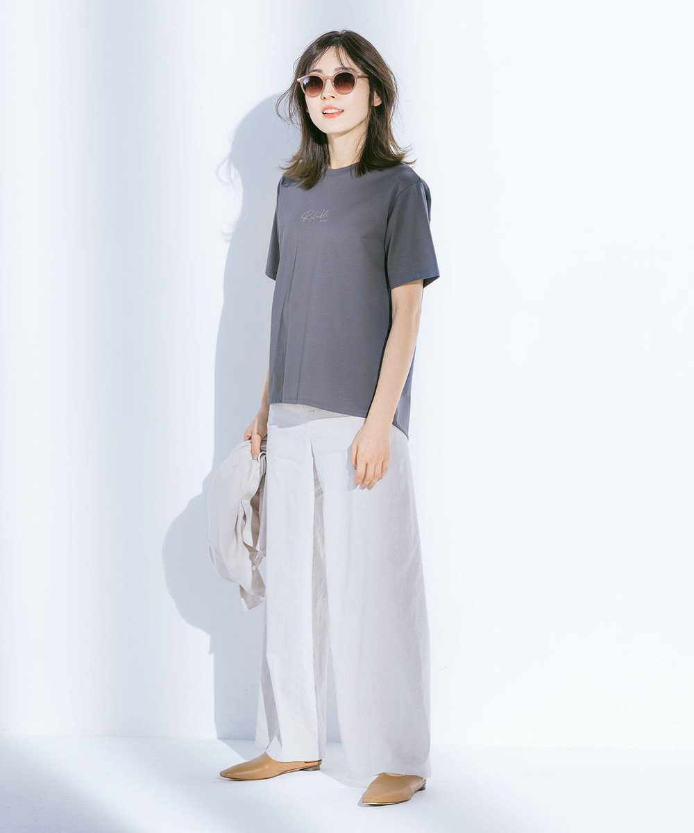 J.PRESS LADIES S PRINT TEE Tシャツ グレー系
