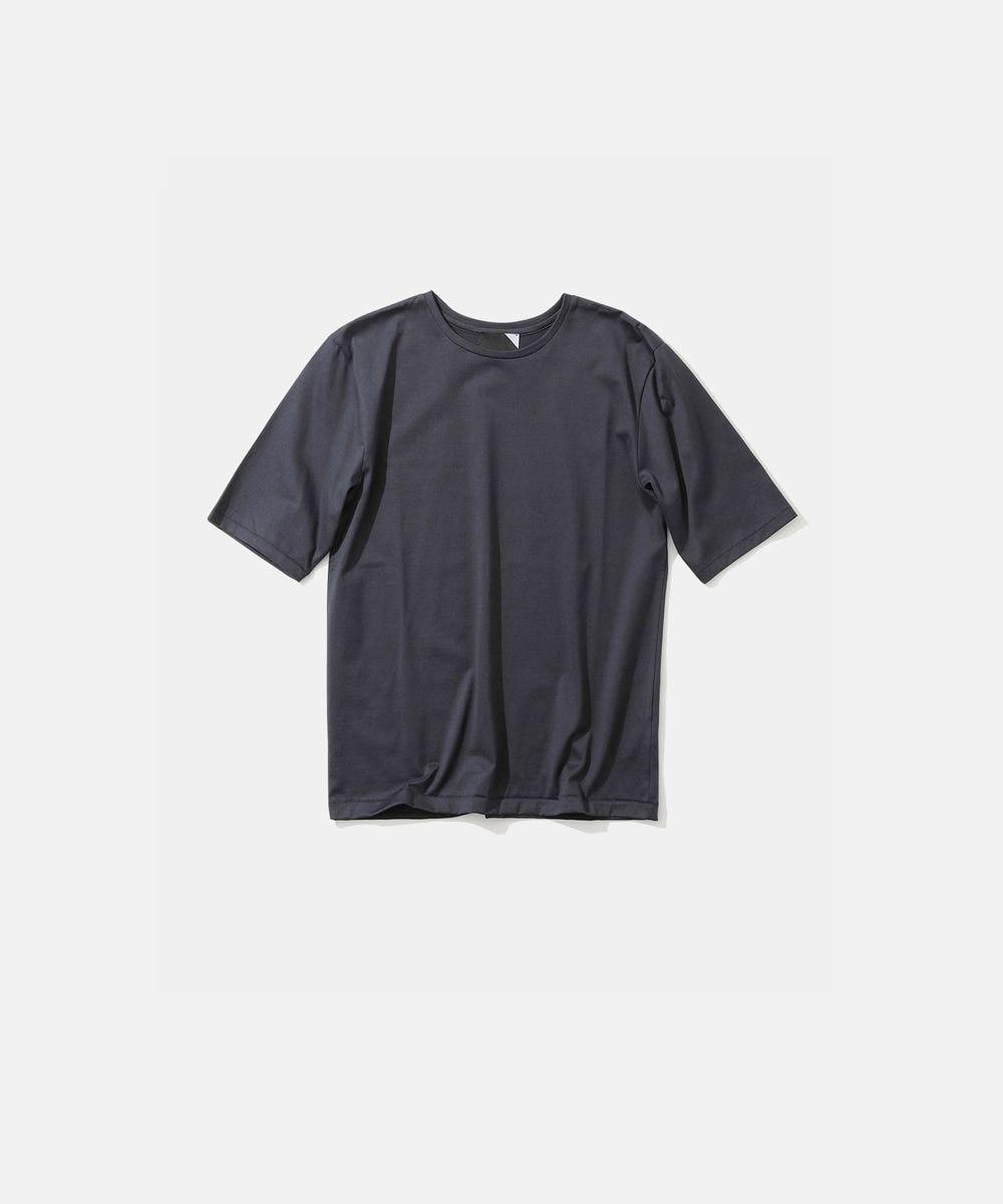 ATON SUVIN 60/2 | パーフェクトショートTシャツ NAVY