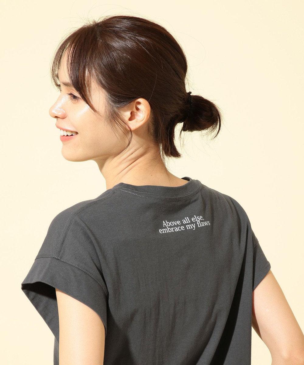 any FAM 【オーガニックコットン】オーガビッツバックロゴ Tシャツ グレー系