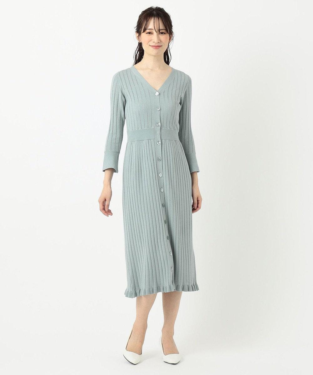 TOCCA 【TOCCA LAVENDER】【Ecovero】Mermaid KnitDress ニットドレス スカイブルー系
