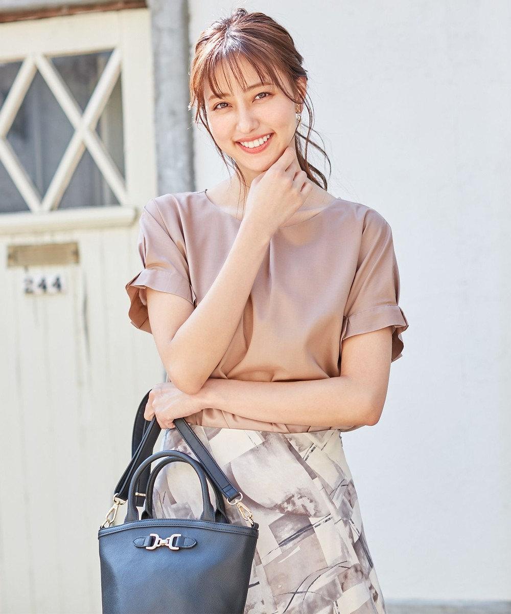 any SiS S 【洗える】バーポイントシャツ ブラウス モカピンク
