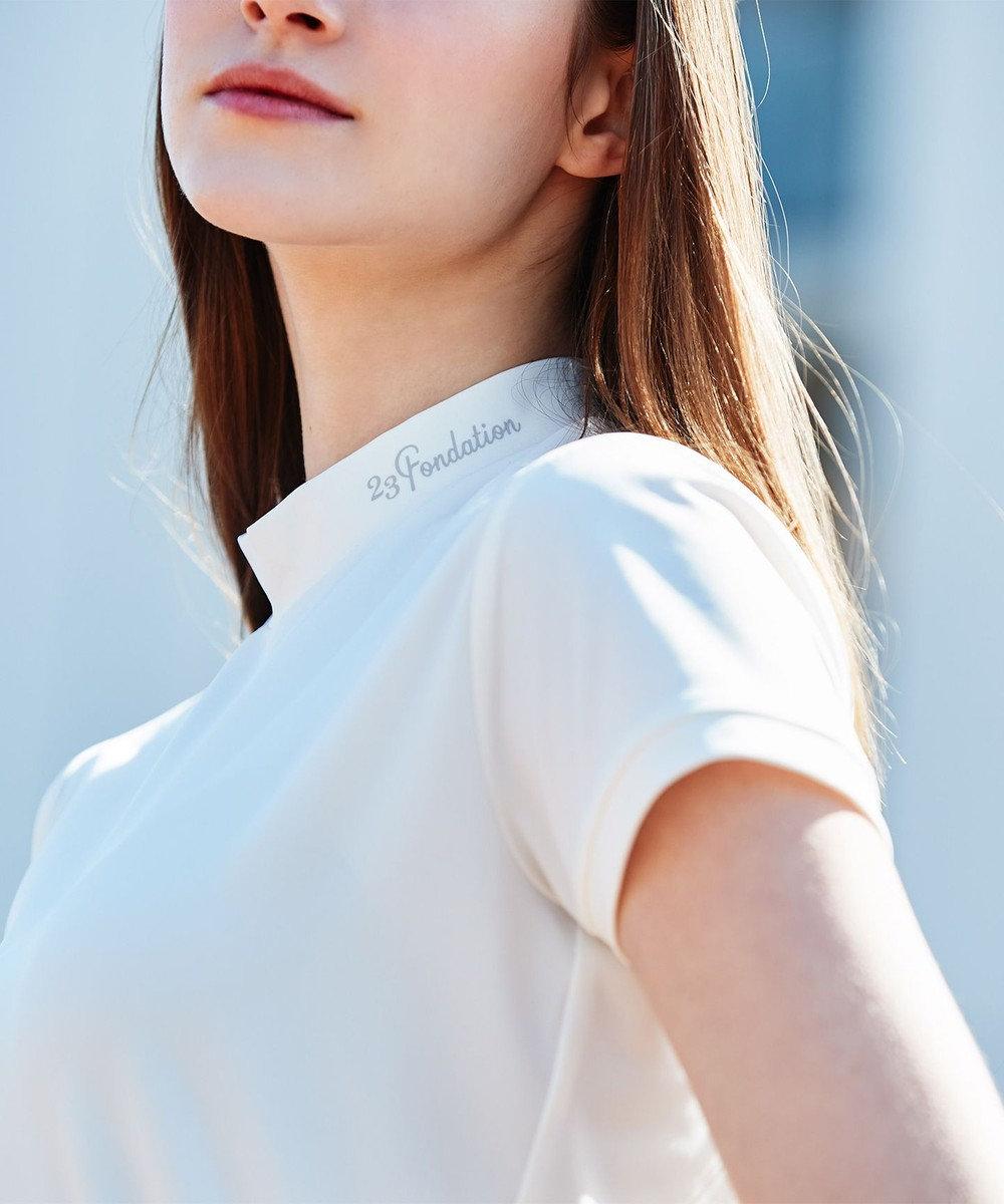 23区GOLF 【WOMEN】【Fondation/WEB限定】【UV/日本製】モックネック シャツ ホワイト系
