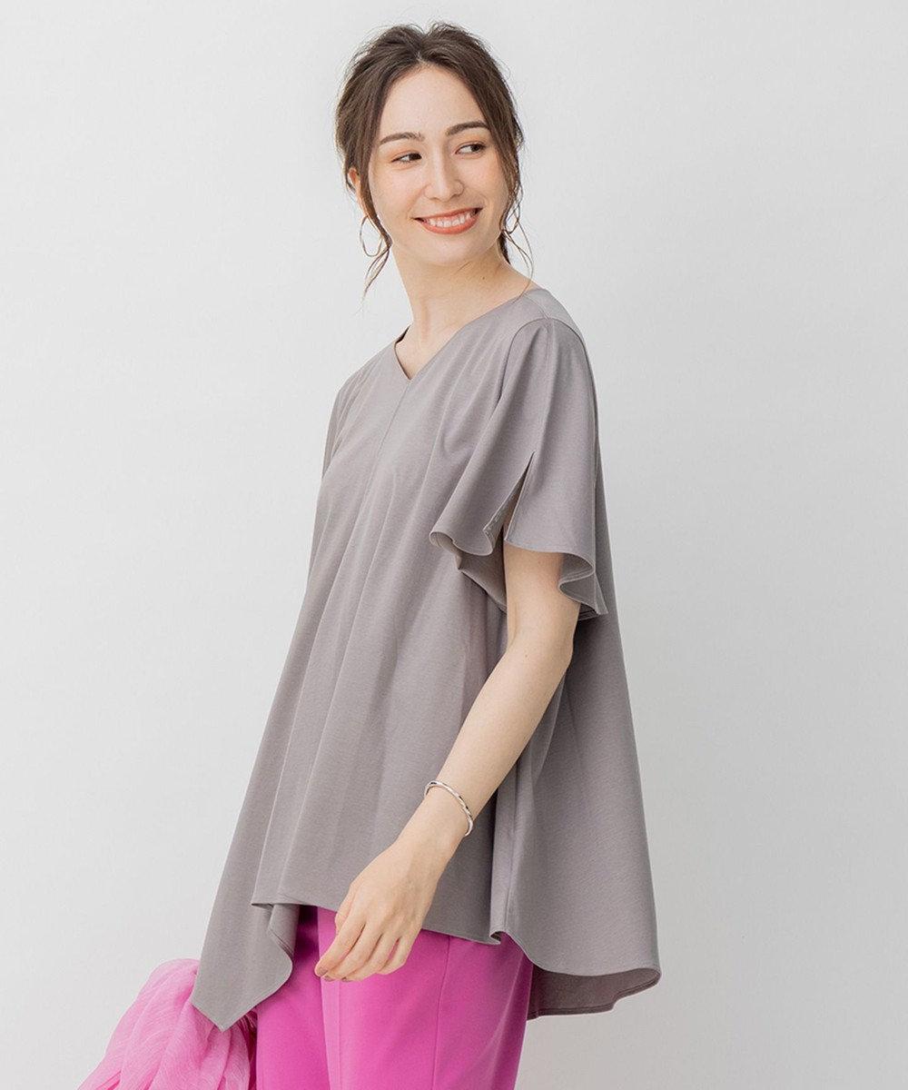 自由区 【新色登場!Sサイズ有】フレアシルエット アシンメトリー Tシャツ グレー系