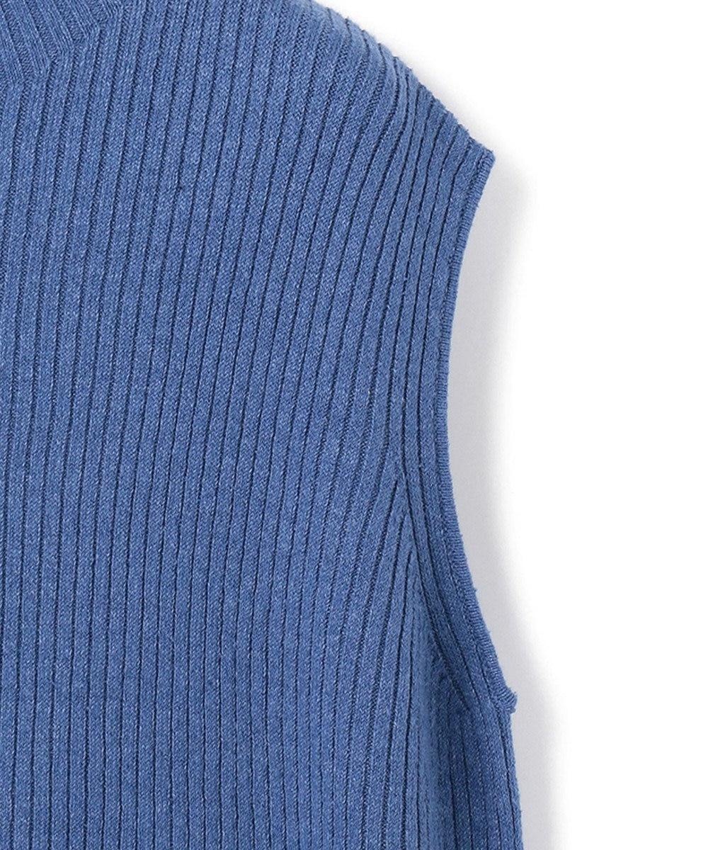 23区 S 【マガジン掲載】リネンシルクリブノースリーブ プルオーバー(番号2F45) ブルー系