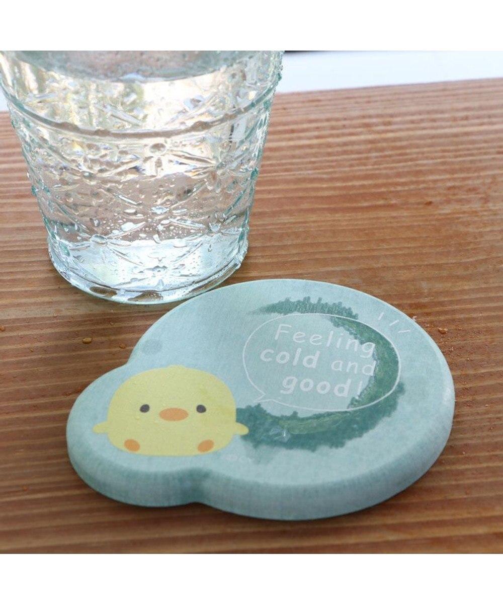Mother garden マザーガーデン 珪藻土コースター こぴよ&こねむ 2個セット 珪藻土 コースター セット プレゼント おうちカフェ かわいい マザーガーデン ブルー系