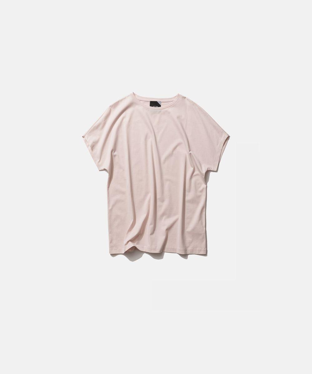 ATON SUVIN 60/2   キャップスリーブTシャツ PINK