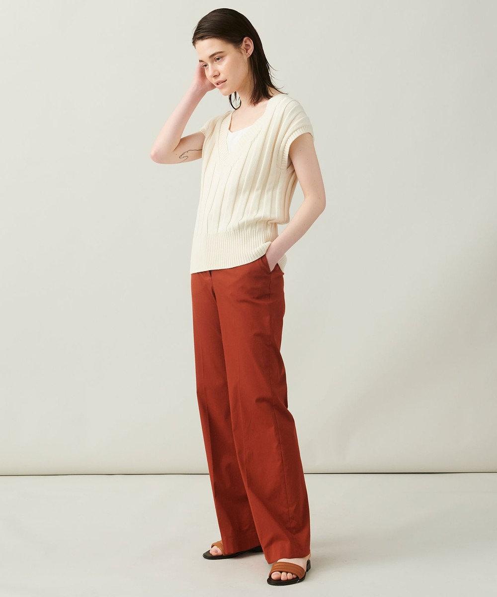 JOSEPH 【柚香 光さん着用】メランジバイストレッチ フレアーパンツ ブラウン系
