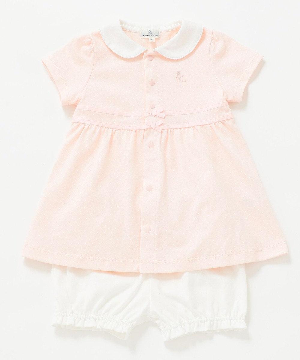 組曲 KIDS 【80-90cm】ドットプリントワンピース+ブルマ 2点セット ピンク系5
